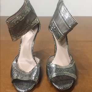Vintage Vince Camuto silver textured heels